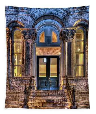 Su Hall Of Languages Doors Tapestry