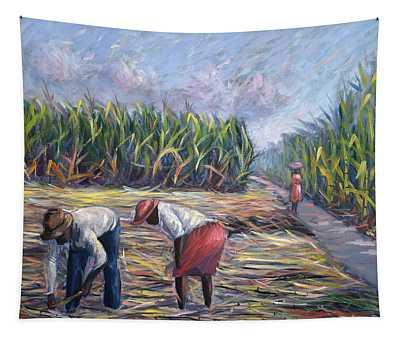 Sugarcane Harvest Tapestry