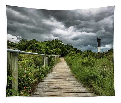 Sullivan's Island Summer Storm Clouds Tapestry