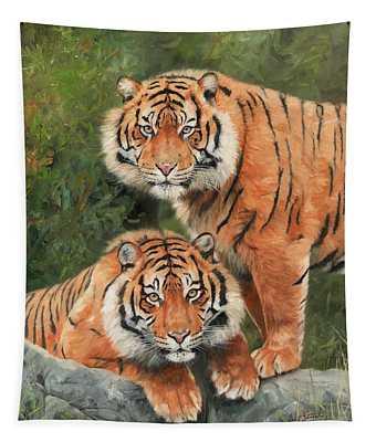 Sumatran Tigers Tapestry