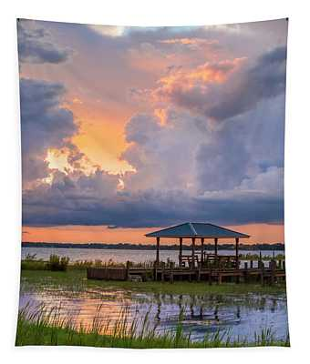 Summer Boathouse Tapestry