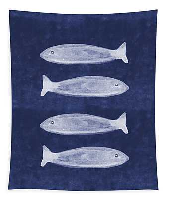 Summer Fish- Art By Linda Woods Tapestry