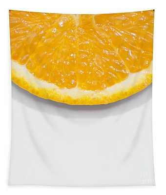 Summer Fruit Orange Slice On Studio Copyspace Tapestry