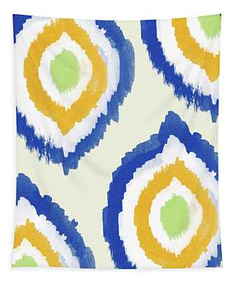 Summer Ikat- Art By Linda Woods Tapestry