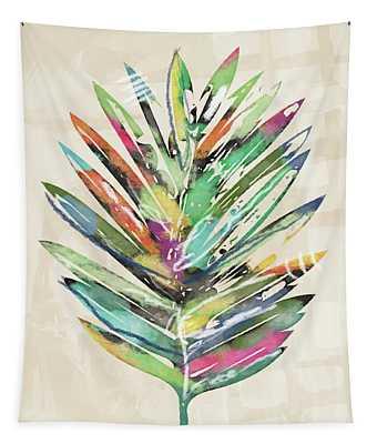 Summer Palm Leaf- Art By Linda Woods Tapestry