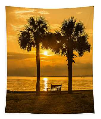 Summer Sunrise - Charleston Sc Tapestry