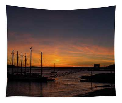 Summer Sunrise In Bar Harbor Tapestry