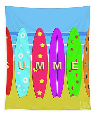 Summer Surf Tapestry