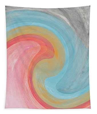 Summer Waves- Abstract Art By Linda Woods Tapestry