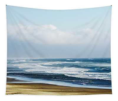 Summer Waves Netarts Oregon Tapestry