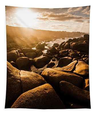 Sun Bleached Australia Beach Tapestry