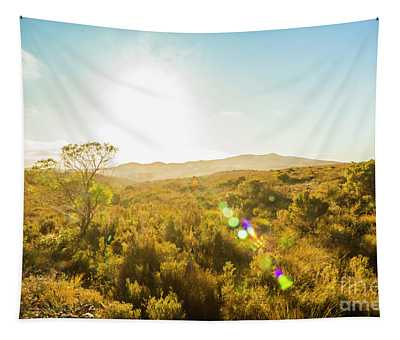 Sun Flare Prairie  Tapestry