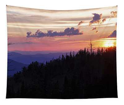 Sun Over Cedar Tapestry
