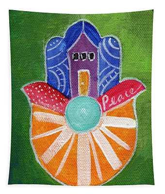 Sunburst Hamsa Tapestry