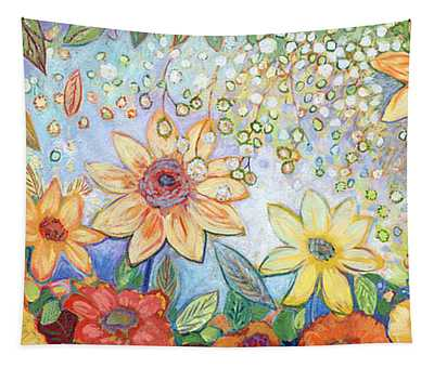 Sunflower Tropics Tapestry