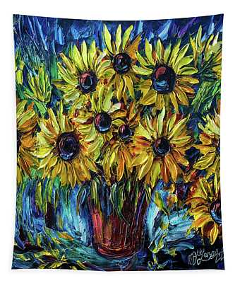 Sunflowers  Palette Knife Tapestry