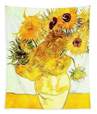 Sunflowers Van Gogh Tapestry