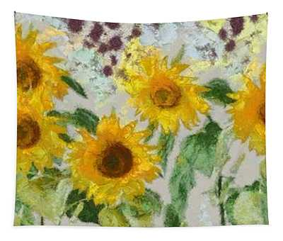 Sunflowers Wide Tapestry