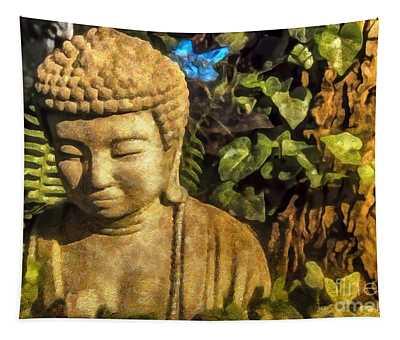 Sunlit Buddha 2015 Tapestry