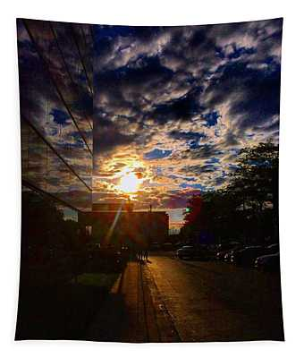 Sunlit Cloud Reflection Tapestry