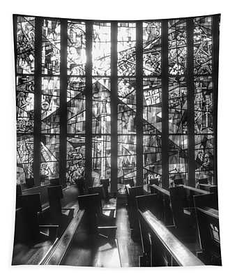 Sunlit Stained Glass At Czestochowa Shrine, Pa Tapestry