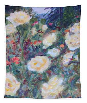 Sunny Day At The Rose Garden Tapestry