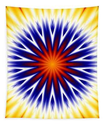Sunny Fractal Tie Dye Tapestry