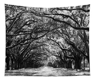 Sunny Southern Day - Black And White Tapestry