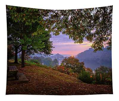 Sunrise At River Rd  Tapestry