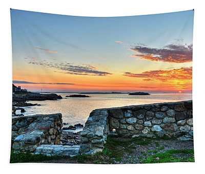 Sunrise At Castle Rock Marblehead Ma Tapestry