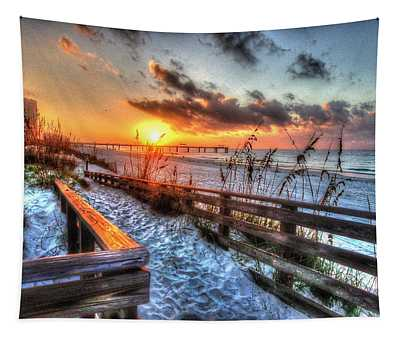 Sunrise At Cotton Bayou  Tapestry