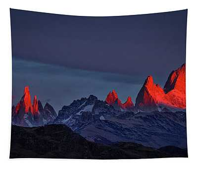 Sunrise At Fitz Roy #2 - Patagonia Tapestry