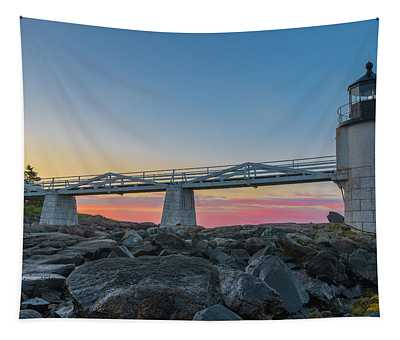 Sunrise At Marshall Point Tapestry