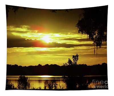 Sunrise At The Lake Tapestry