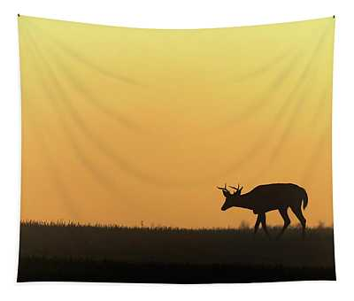 Sunrise Deer Tapestry