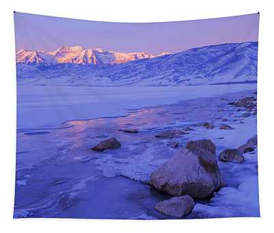 Sunrise Ice Reflection Tapestry
