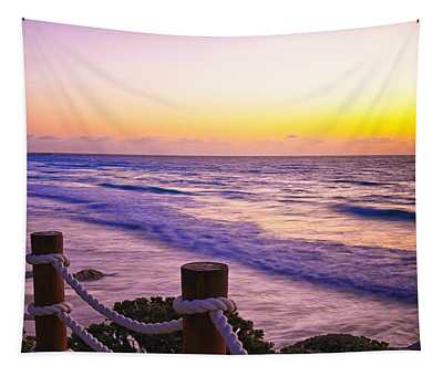 Sunrise In Cancun Tapestry