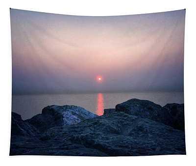 Sunrise In Chicago Tapestry