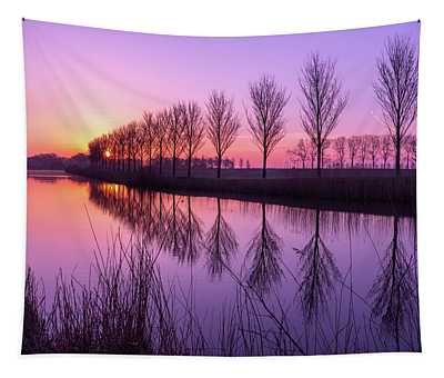 Sunrise In Holland Tapestry
