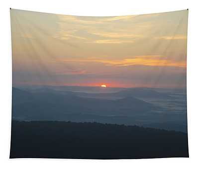 Sunrise In The Mountains Of Virginia Tapestry