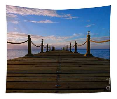 Sunrise Morning Bliss Pier 140a Tapestry
