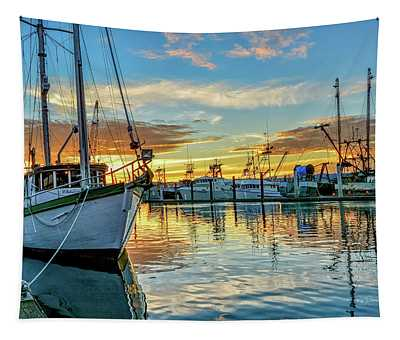 Sunrise On Bay Tapestry