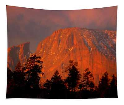 Sunrise On Long's Peak Tapestry
