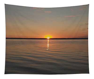 Sunrise On Seneca Lake Tapestry