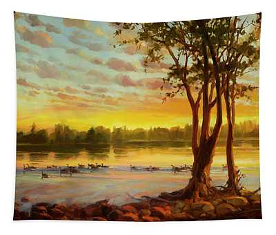 Sunrise On The Columbia Tapestry