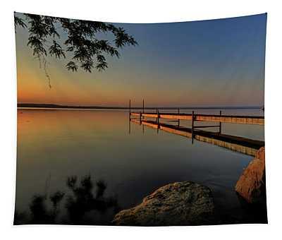 Sunrise Over Cayuga Lake Tapestry