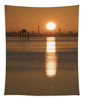 Sunrise Over Portsmouth Tapestry