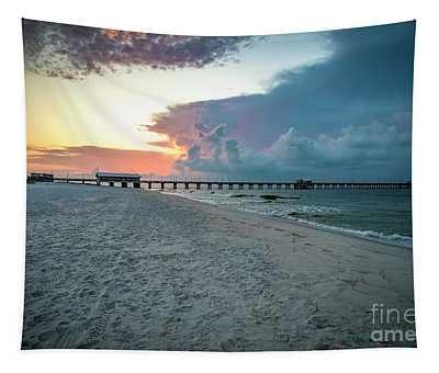 Sunrise Seascape Gulf Shores Al Pier 064a Tapestry