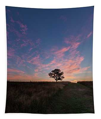Sunrise Tree 2016 Square Tapestry