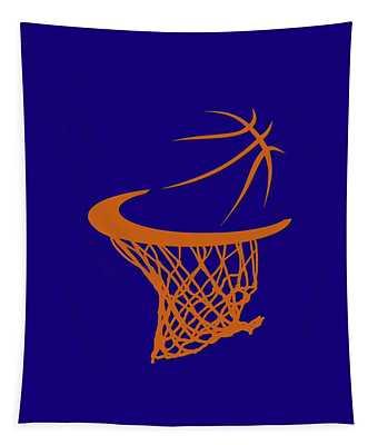 Suns Basketball Hoop Tapestry